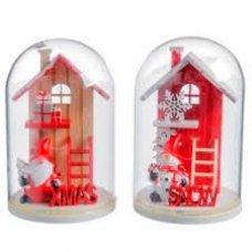 Ukras Božićna kućica u staklu