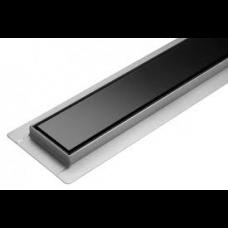 Tuš kanalica black glass 60 cm