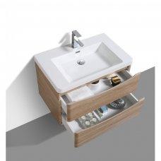 Kupaonska baza s umivaonikom Smile 90 White oak