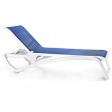 Ležaljka Atlantic plavo-bijela