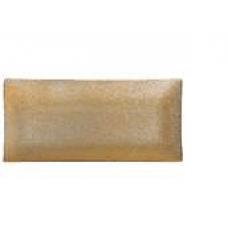 Tanjur stakleni dekorirani 33x16 cm zlatni