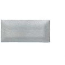 Tanjur stakleni dekorirani 33x16 cm srebreni