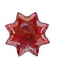 Tanjur zvijezda stakleni 20 cm crveni
