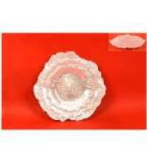 Tanjur cvijet stakleni bijeli 19 cm