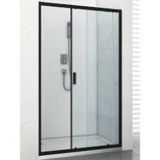 Tuš vrata Soho klizna crna 100x195 cm