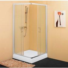 Tuš kabina SQ-line 90x90 kvadratna  krom, prozirna