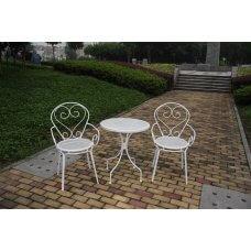 Stol Metalni bijeli + 2 stolice