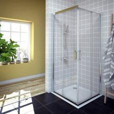 Tuš kabina Savana 90x90 kvadratna silver prozirna