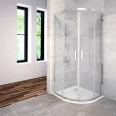 Tuš kabina Savana 90x90 polukružna krom, prozirna