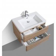 Kupaonska baza s umivaonikom Smile 60 White oak