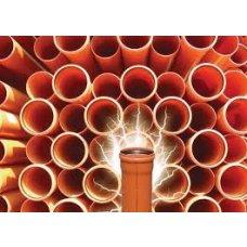 PVC kanalizacijske cijevi fi110/1000 SN2