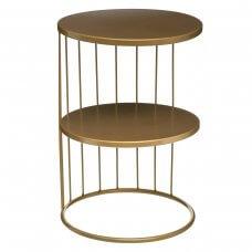 Stolić zlatni metalni 36x52cm